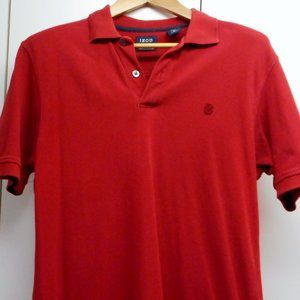 Red Izod polo